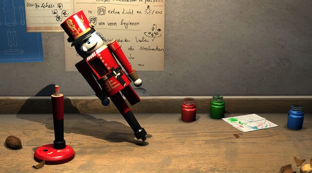 Nutcracker, Interactive scenario to explore a traditional german nutcracker